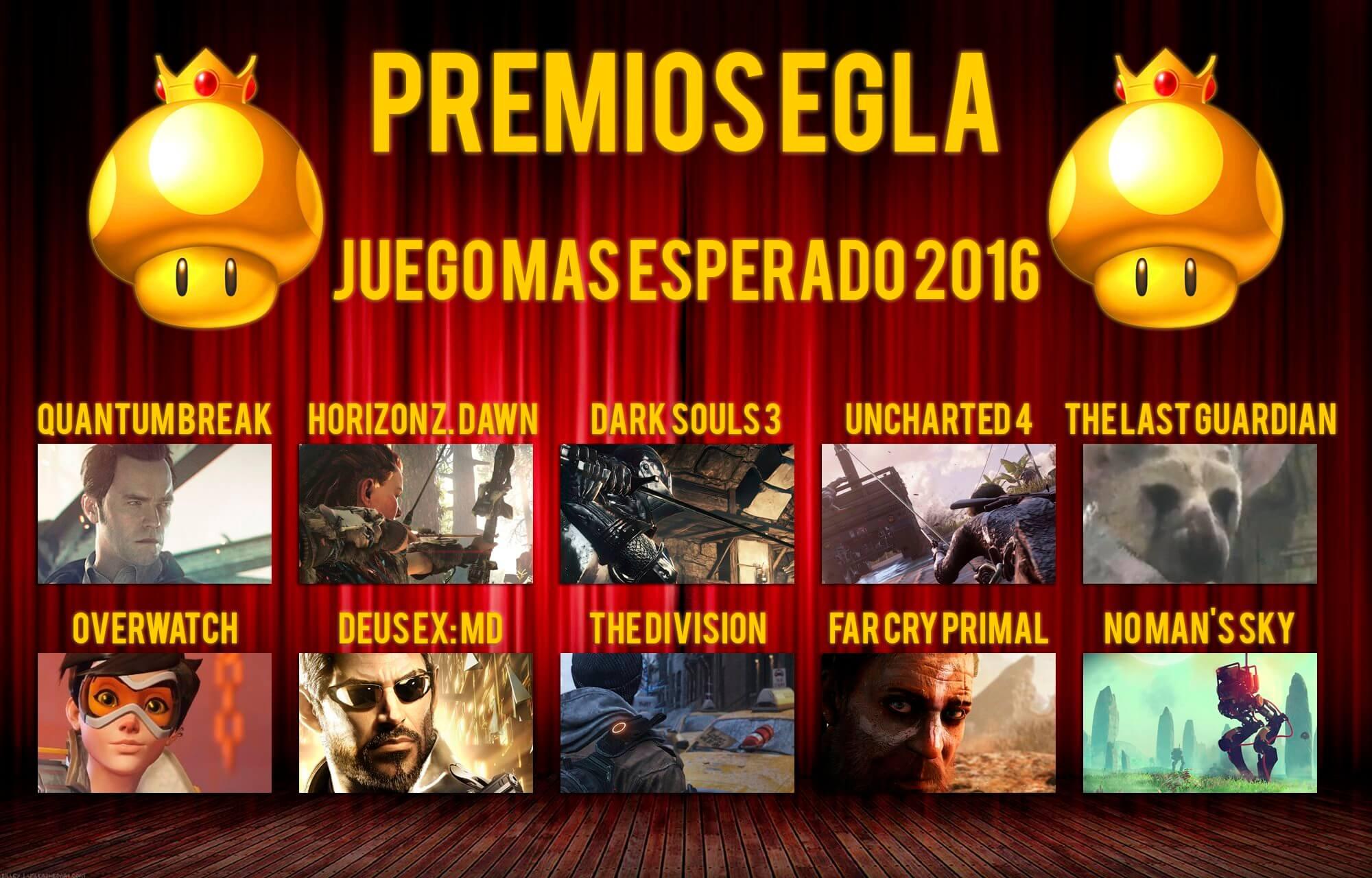 Premios EGLA 2015 Juego más esperado del 2016