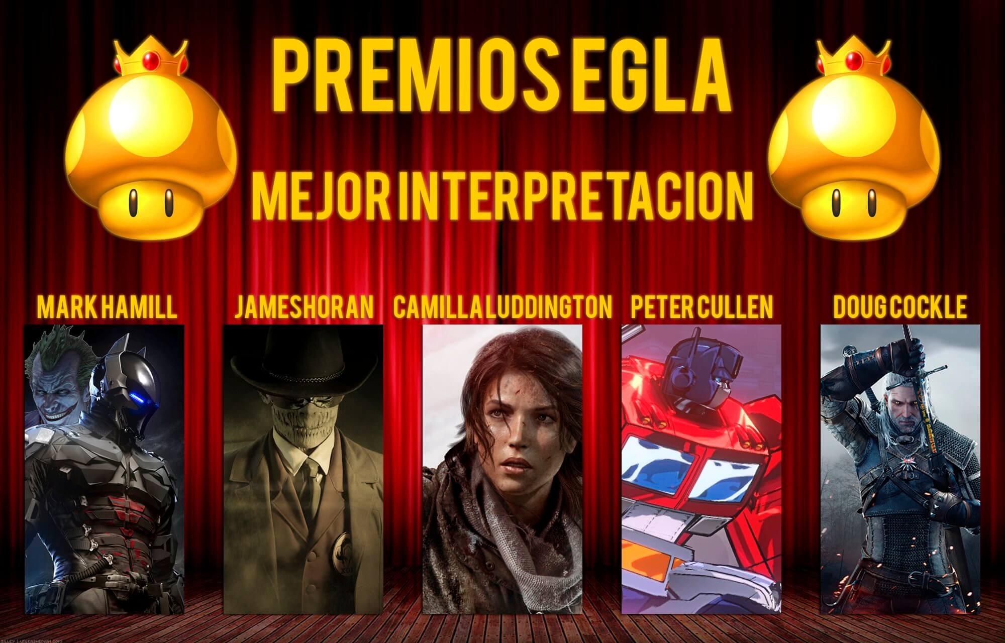 Premios EGLA 2015 Mejor interpretación por un actor o una actriz