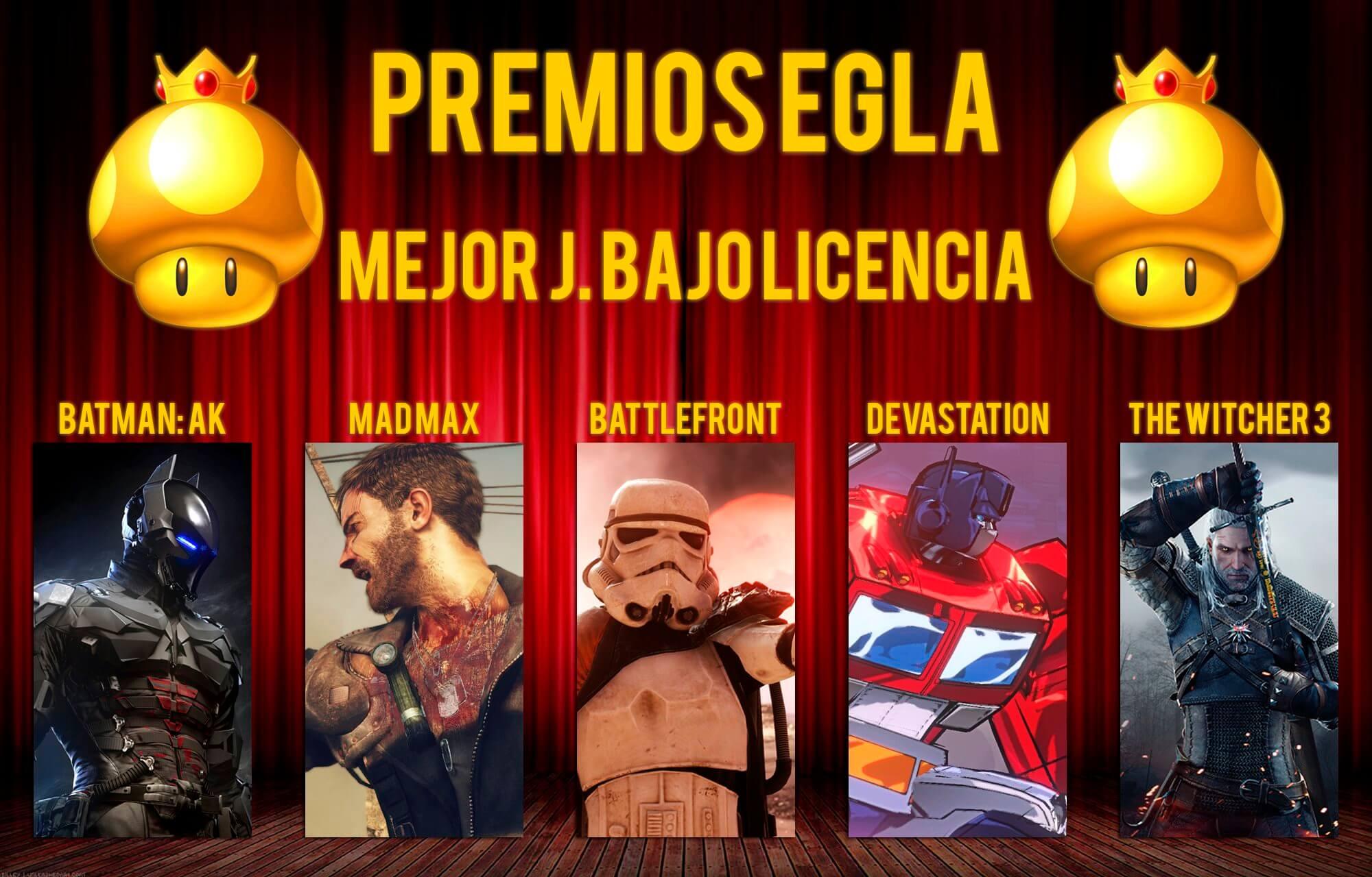 Premios EGLA 2015 Mejor juego bajo licencia