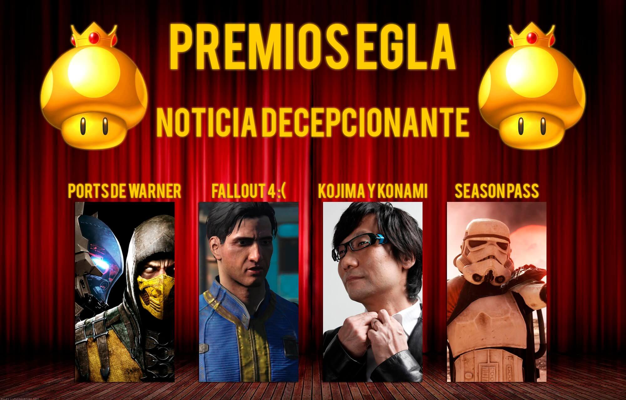 Premios EGLA 2015 Noticia decepcionante del Año