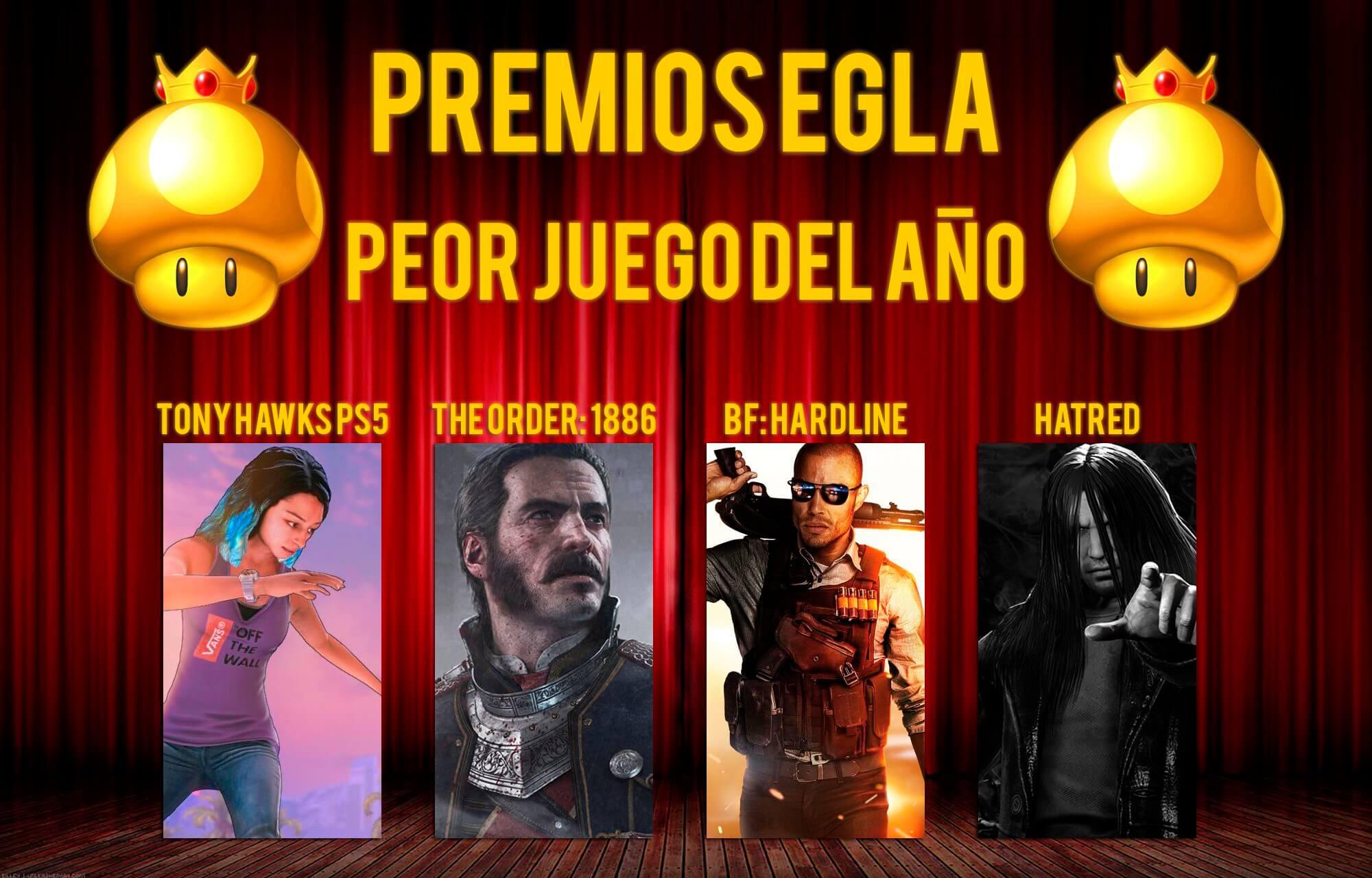 Premios EGLA 2015 Peor juego del año