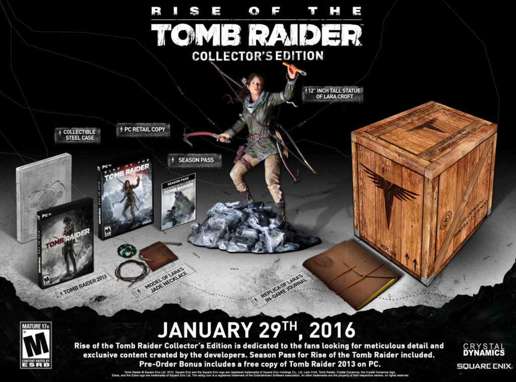 Rise of the tomb raider Collector edtion